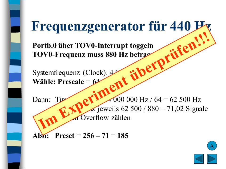 Frequenzgenerator für 440 Hz