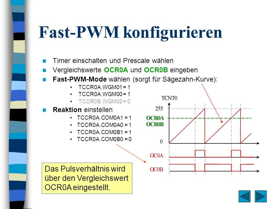 Fast-PWM konfigurieren