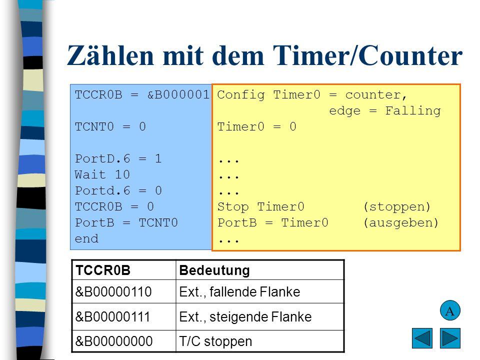Zählen mit dem Timer/Counter