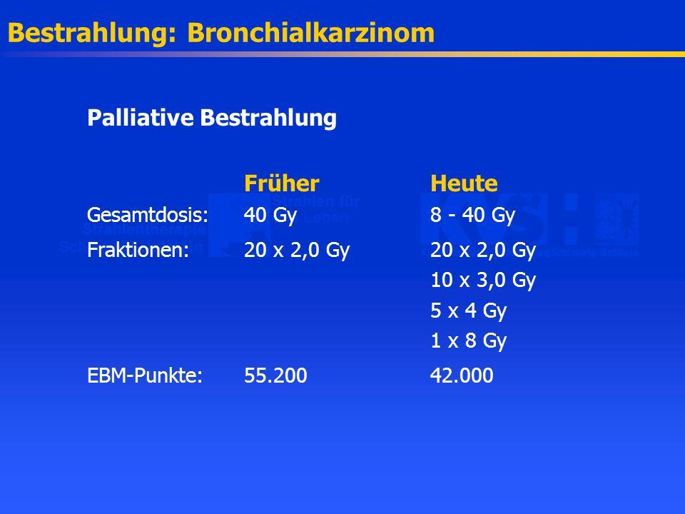 Bestrahlung: Bronchialkarzinom