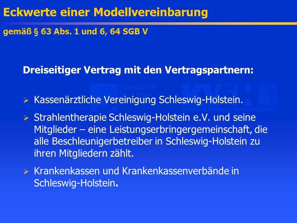 Eckwerte einer Modellvereinbarung gemäß § 63 Abs. 1 und 6, 64 SGB V