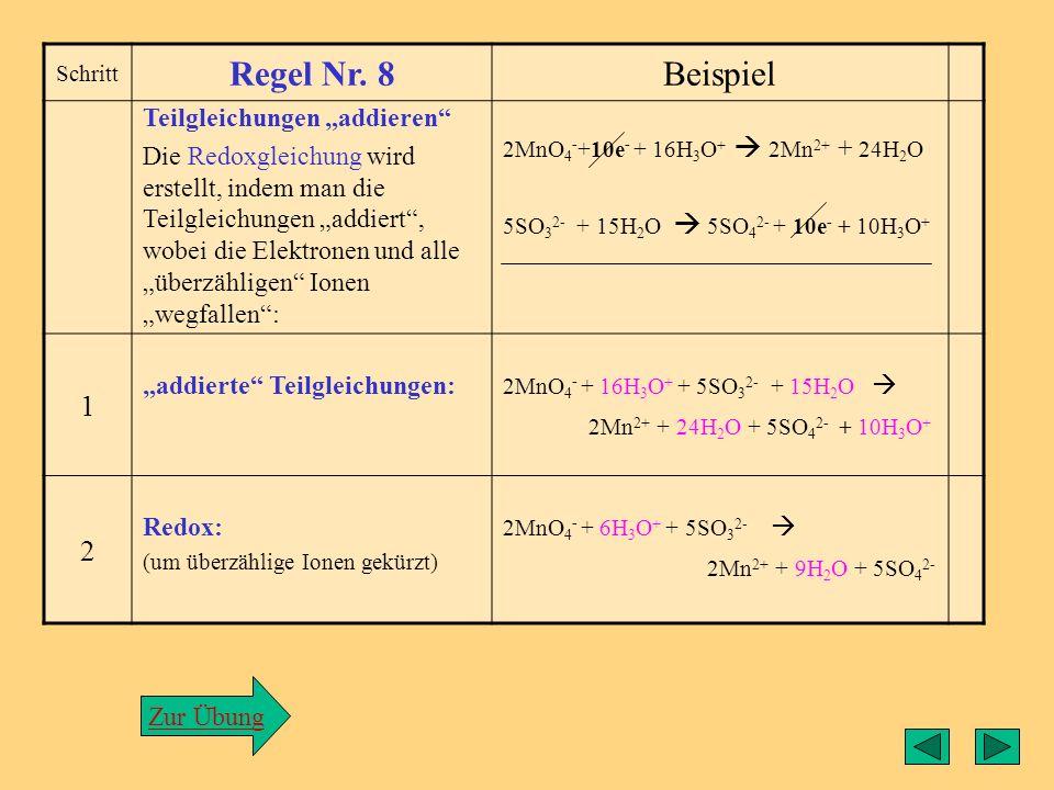 """Regel8 Regel Nr. 8 Beispiel 1 2 Teilgleichungen """"addieren"""