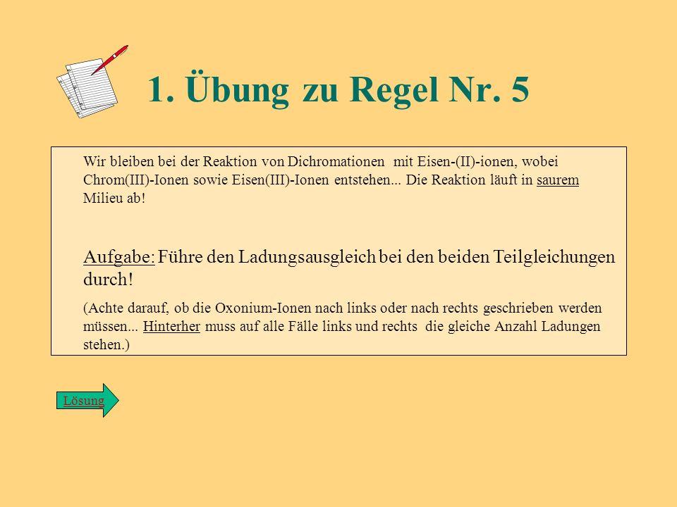 1. Übung zu Regel Nr. 5