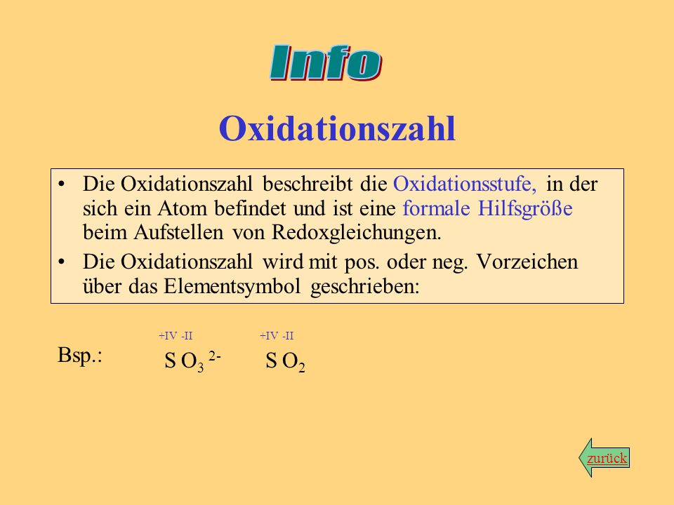 InfoOxidationszahl.