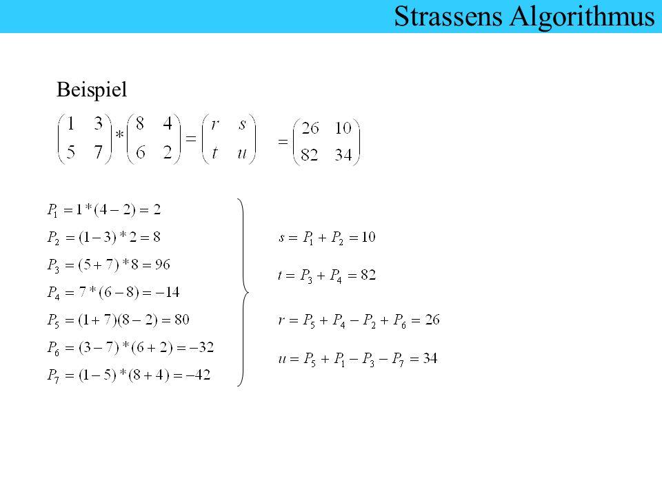 Strassens Algorithmus