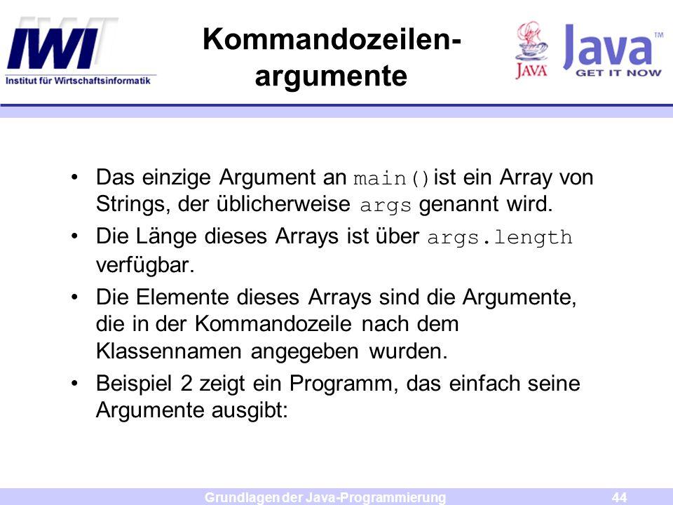 Kommandozeilen- argumente