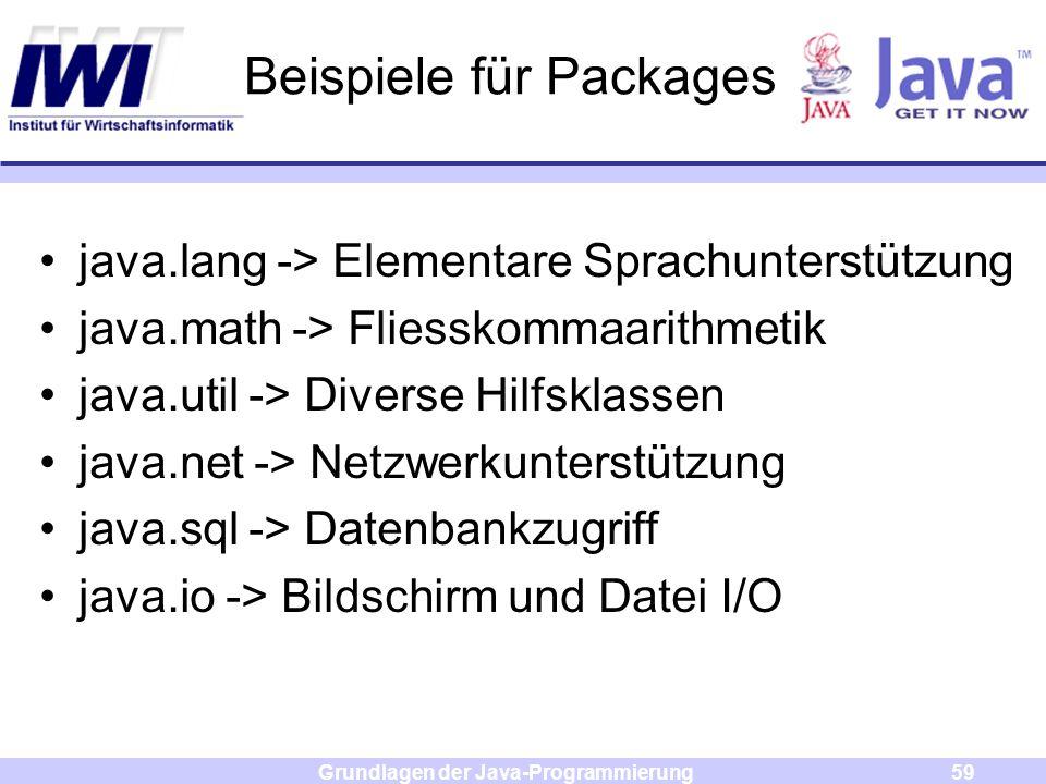Beispiele für Packages