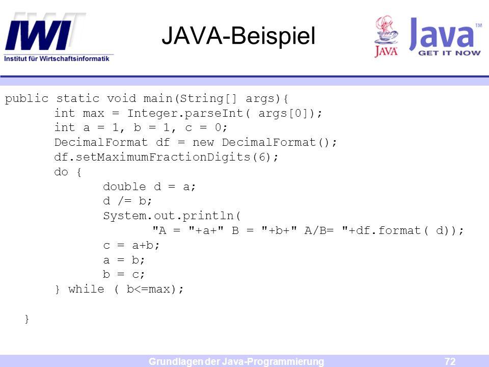 Grundlagen der Java-Programmierung