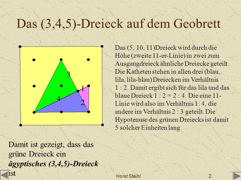 Das (3,4,5)-Dreieck auf dem Geobrett