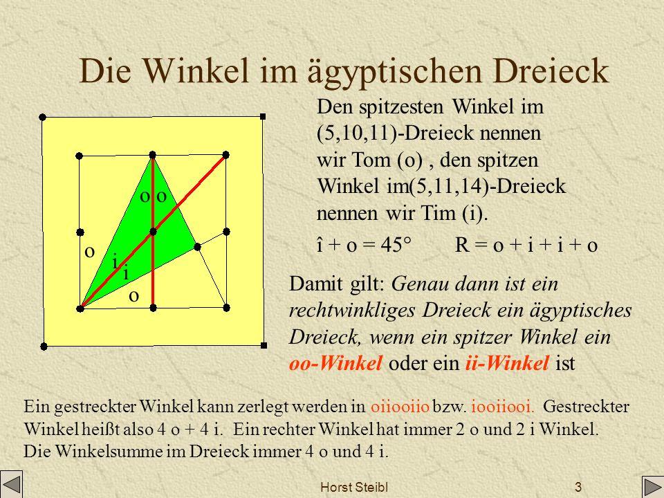Die Winkel im ägyptischen Dreieck