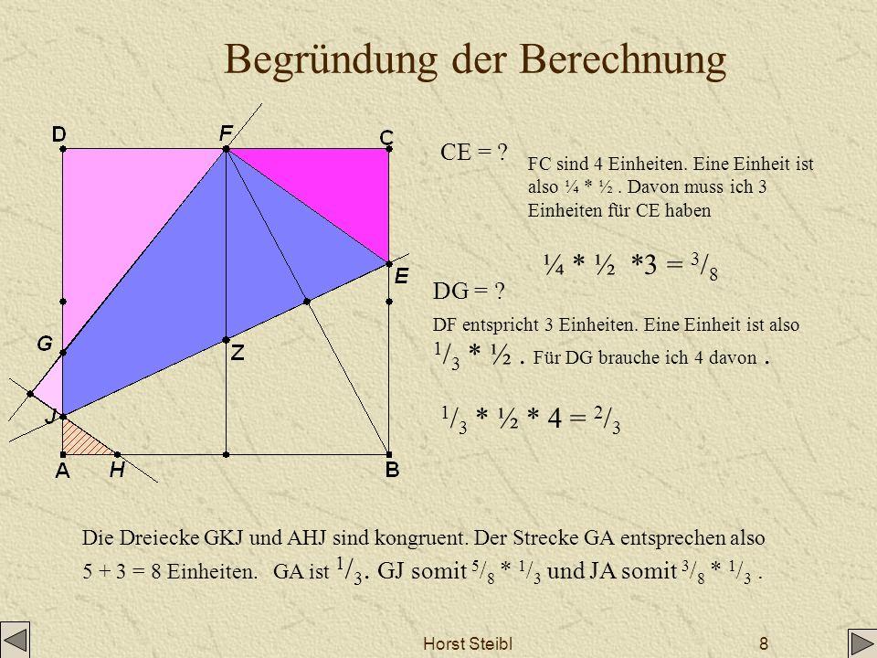 Begründung der Berechnung