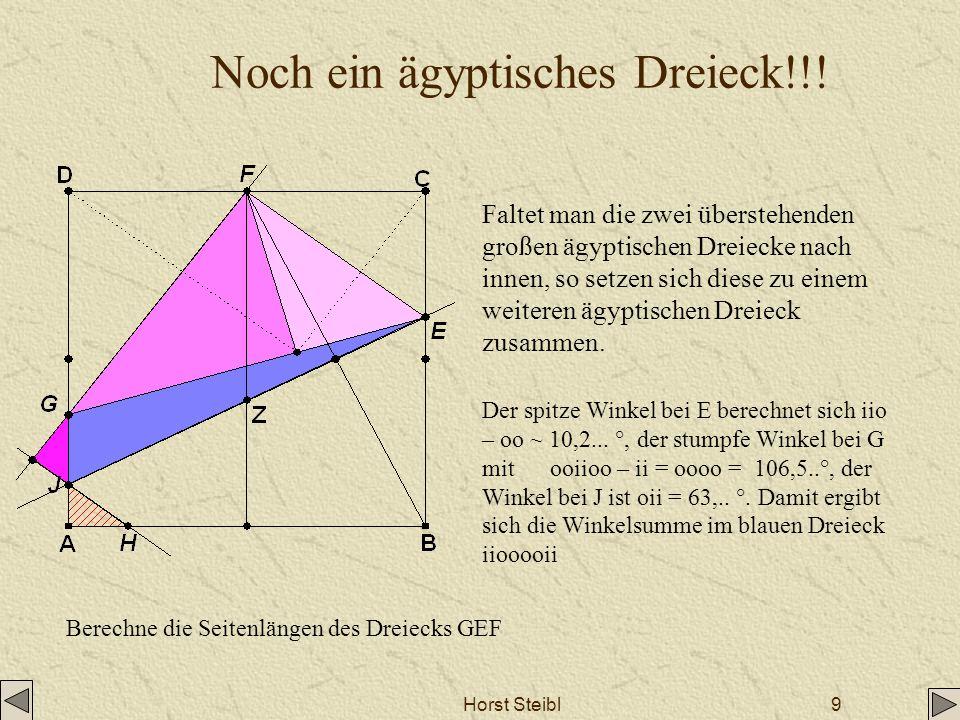 Noch ein ägyptisches Dreieck!!!