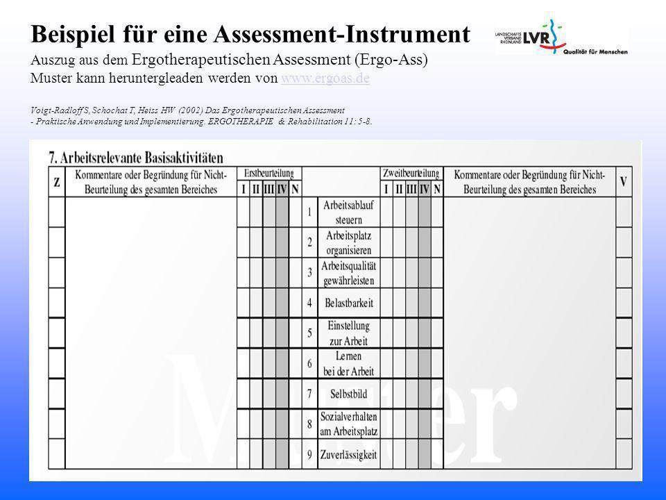 Beispiel für eine Assessment-Instrument