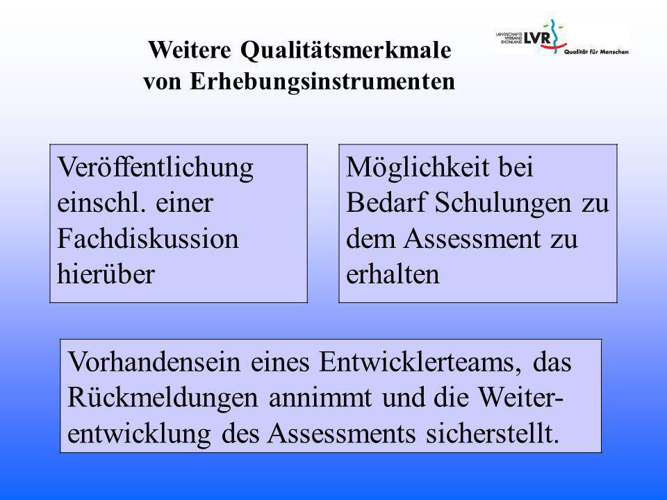 Weitere Qualitätsmerkmale von Erhebungsinstrumenten