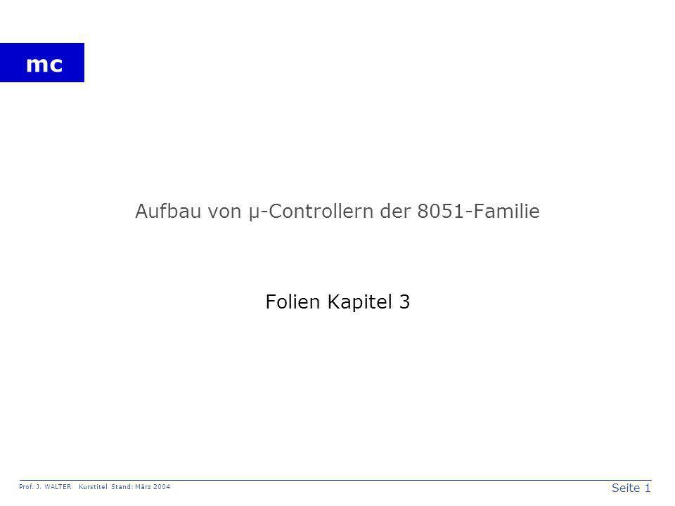 Aufbau von µ-Controllern der 8051-Familie