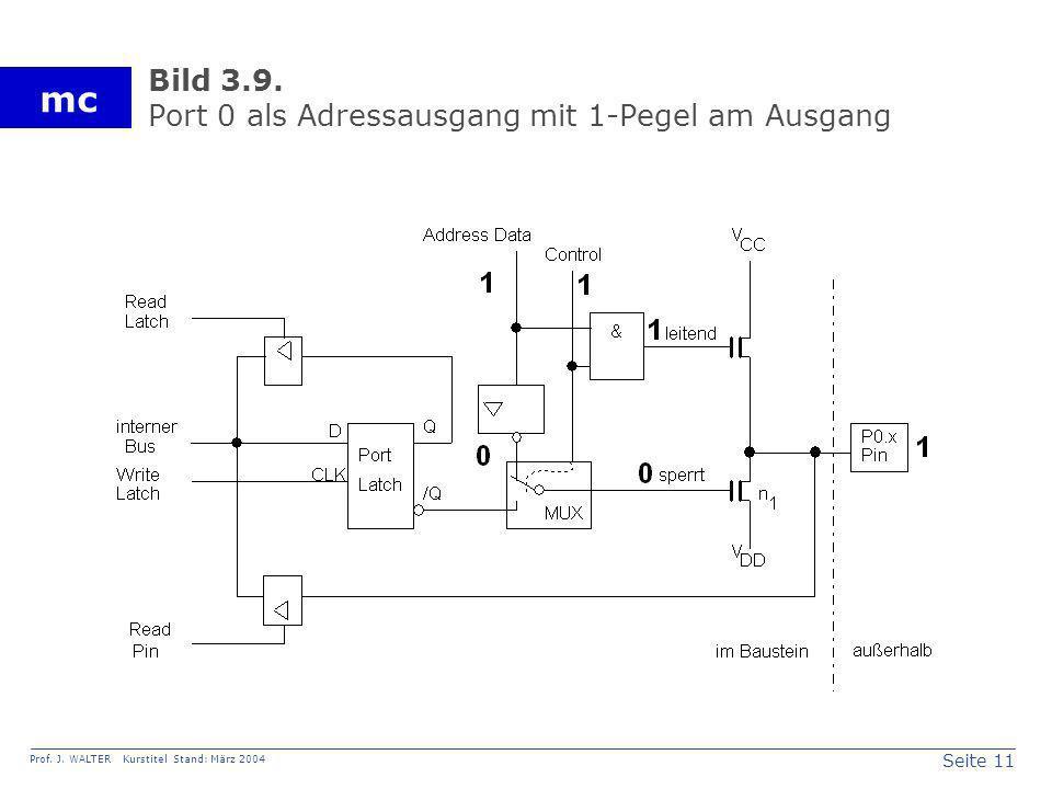 Bild 3.9. Port 0 als Adressausgang mit 1-Pegel am Ausgang