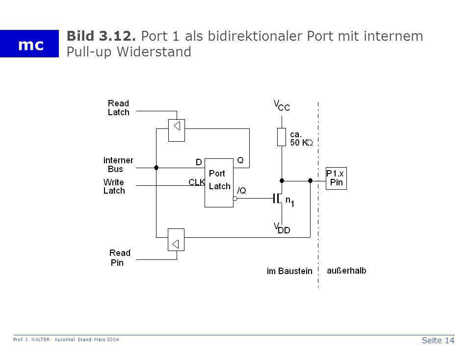 Bild 3.12. Port 1 als bidirektionaler Port mit internem Pull-up Widerstand