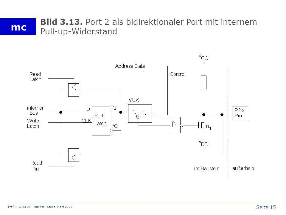 Bild 3.13. Port 2 als bidirektionaler Port mit internem Pull-up-Widerstand