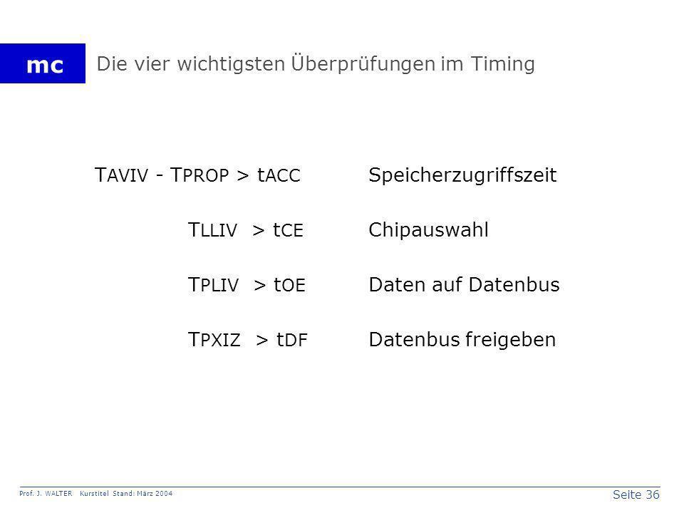 Die vier wichtigsten Überprüfungen im Timing