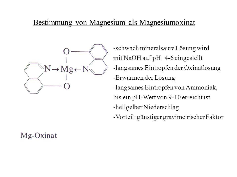 Bestimmung von Magnesium als Magnesiumoxinat