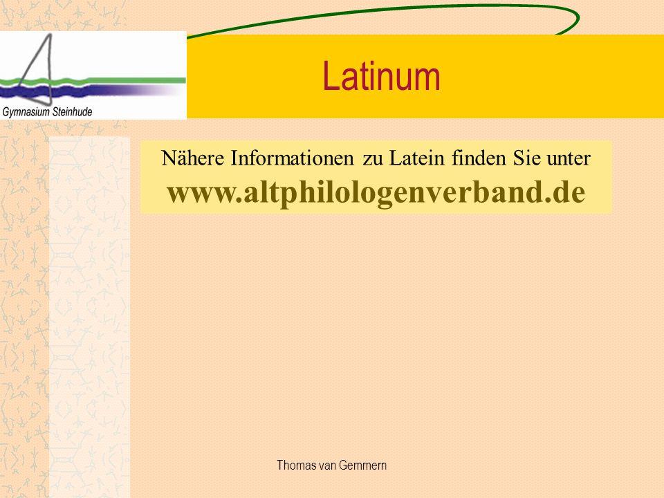 Nähere Informationen zu Latein finden Sie unter