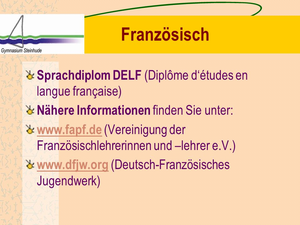 Französisch Sprachdiplom DELF (Diplôme d'études en langue française)