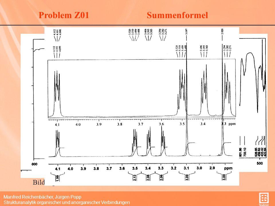 Problem Z01 Summenformel Welcher Peak gehört zum Molpeak M = 199
