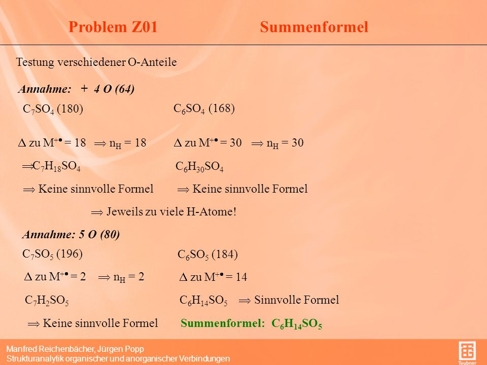 Problem Z01 Summenformel Testung verschiedener O-Anteile