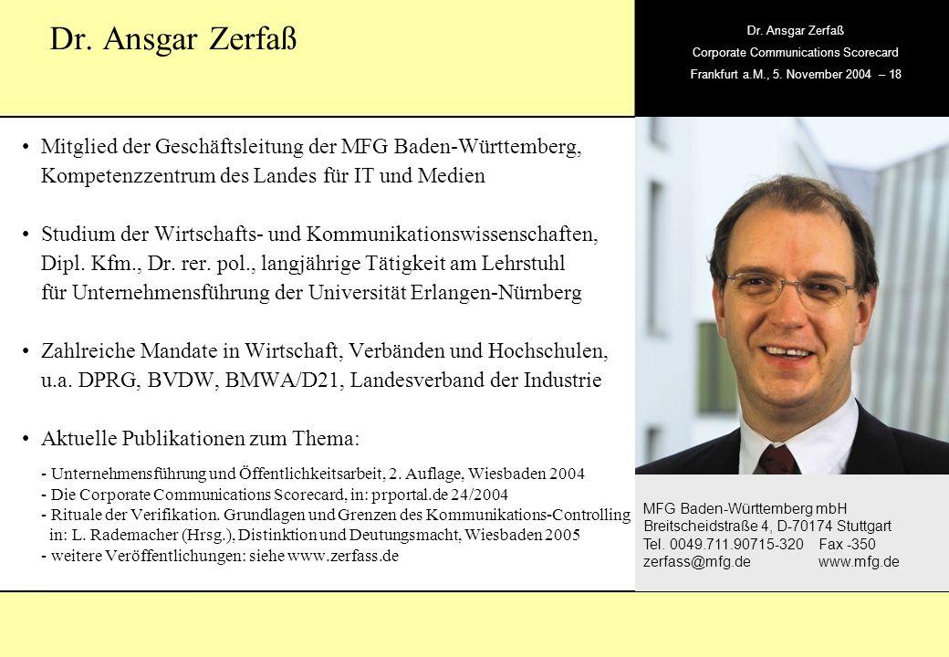 Dr. Ansgar ZerfaßMitglied der Geschäftsleitung der MFG Baden-Württemberg, Kompetenzzentrum des Landes für IT und Medien.