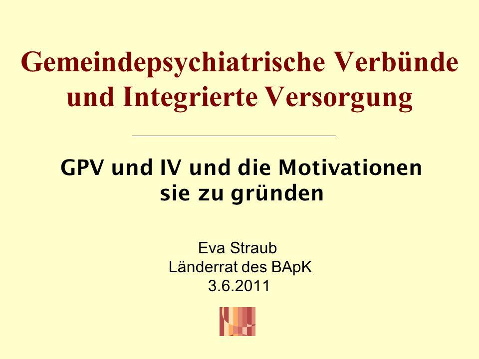 Gemeindepsychiatrische Verbünde und Integrierte Versorgung