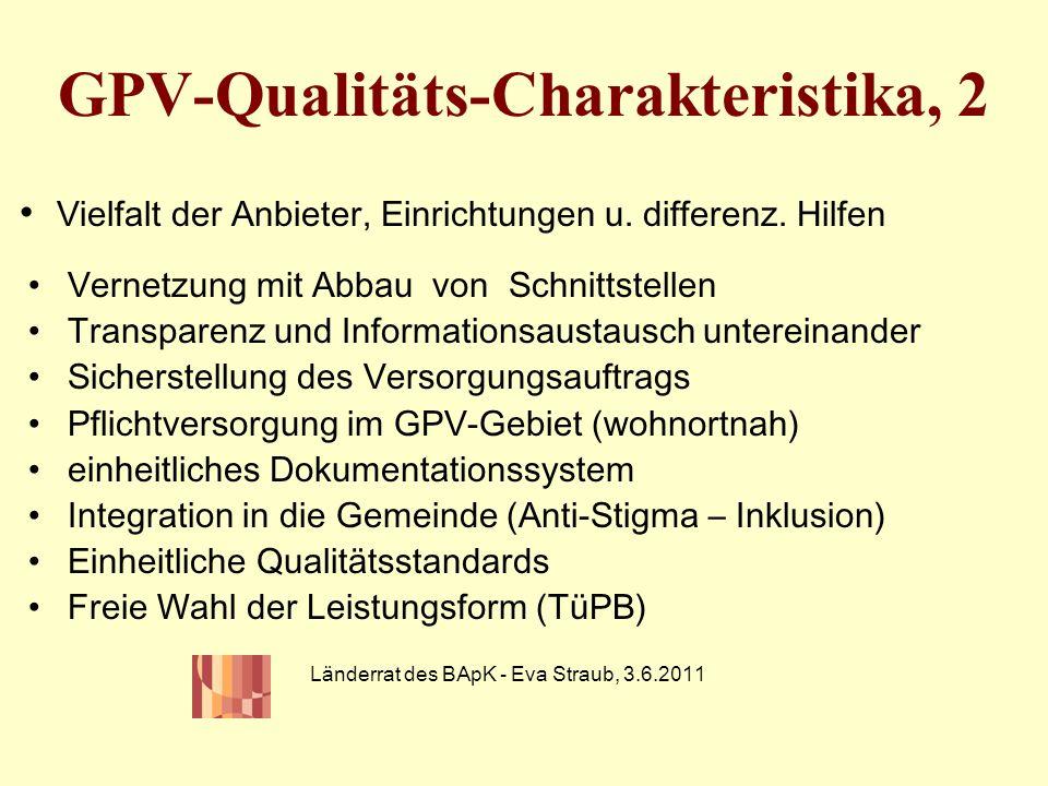 GPV-Qualitäts-Charakteristika, 2