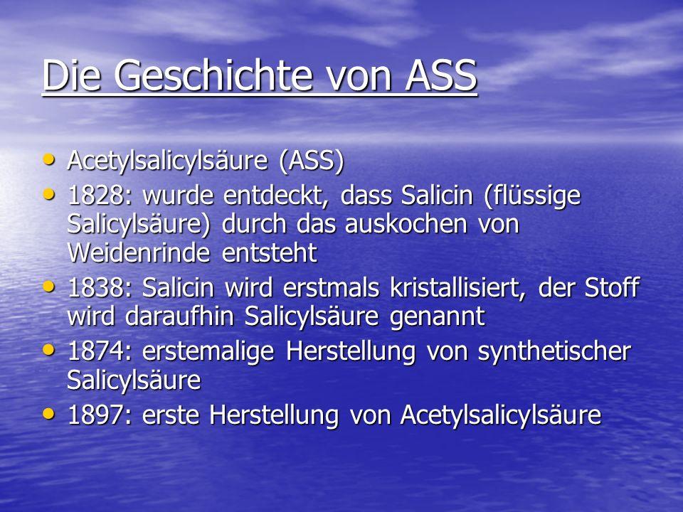 Die Geschichte von ASS Acetylsalicylsäure (ASS)