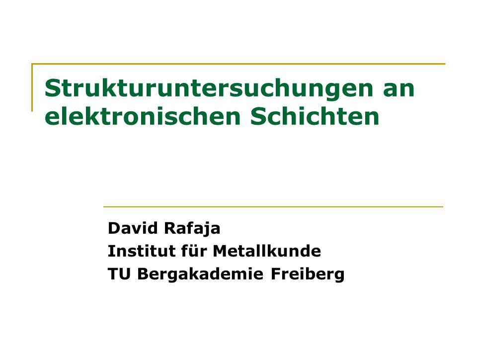 Strukturuntersuchungen an elektronischen Schichten