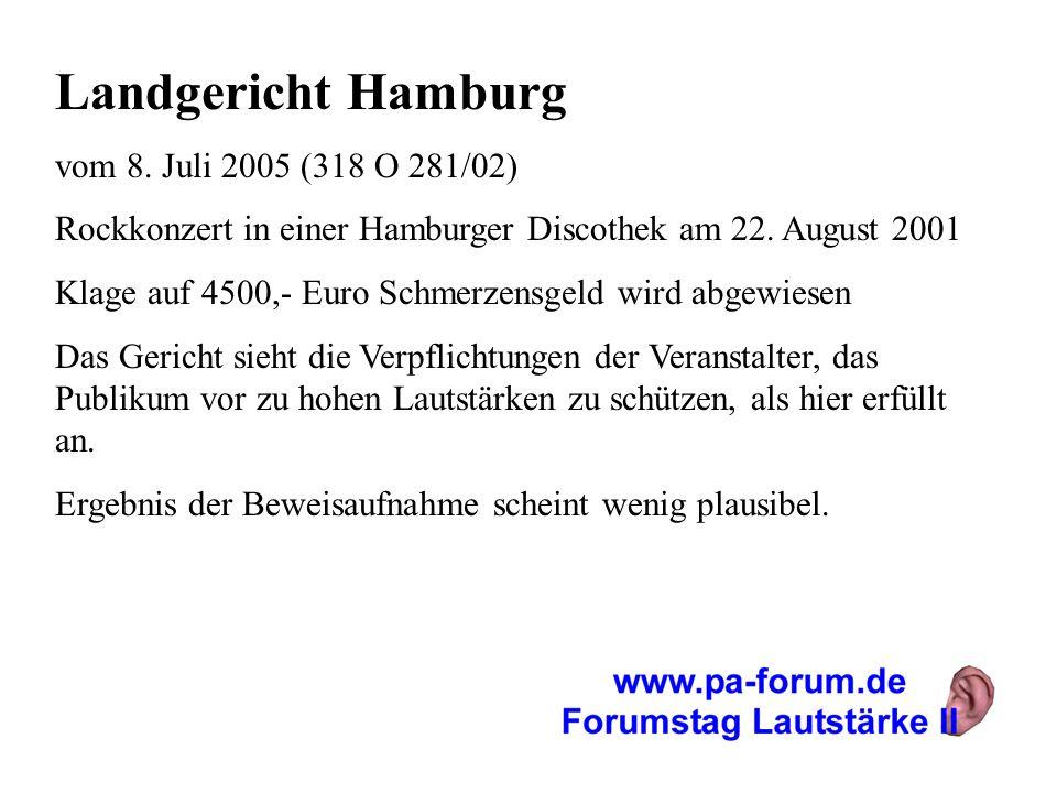 Landgericht Hamburg vom 8. Juli 2005 (318 O 281/02)