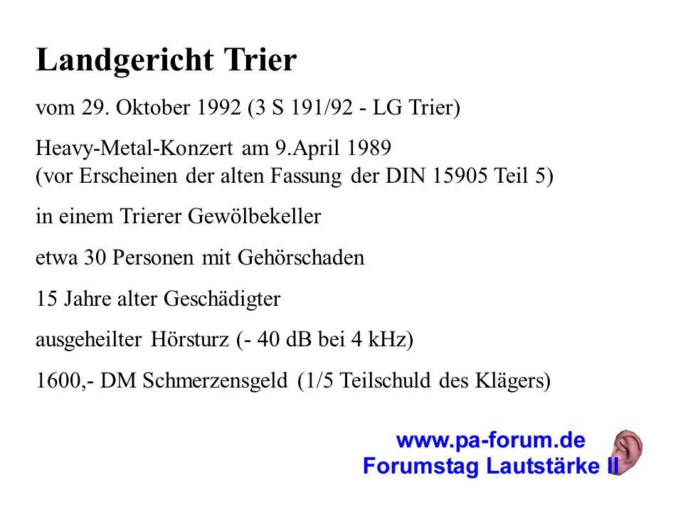 Landgericht Trier vom 29. Oktober 1992 (3 S 191/92 - LG Trier)