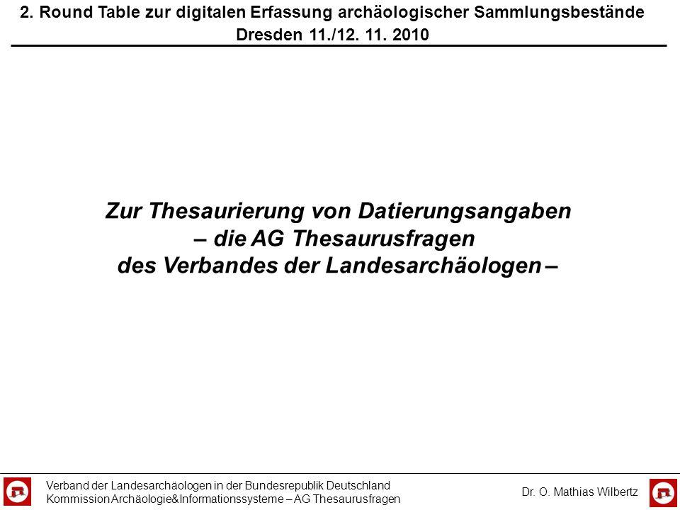 Zur Thesaurierung von Datierungsangaben – die AG Thesaurusfragen