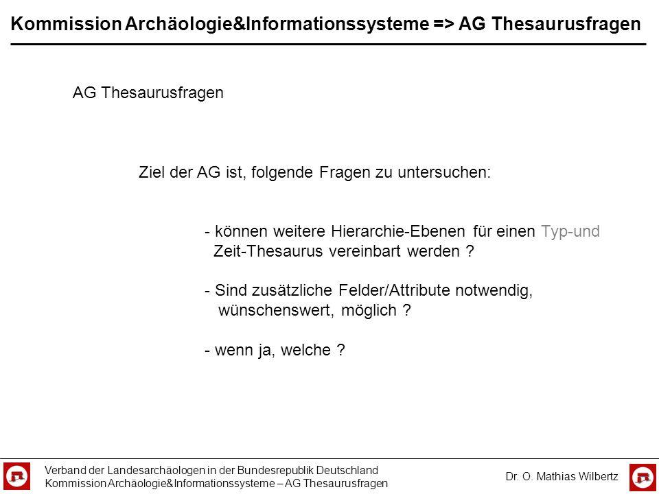 Kommission Archäologie&Informationssysteme => AG Thesaurusfragen