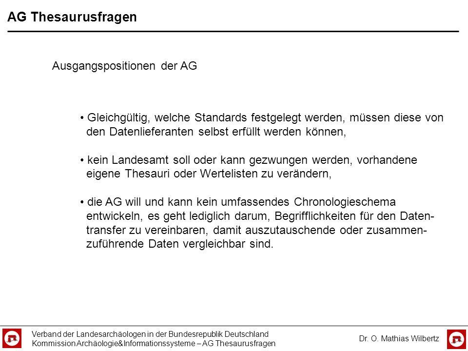 AG Thesaurusfragen Ausgangspositionen der AG