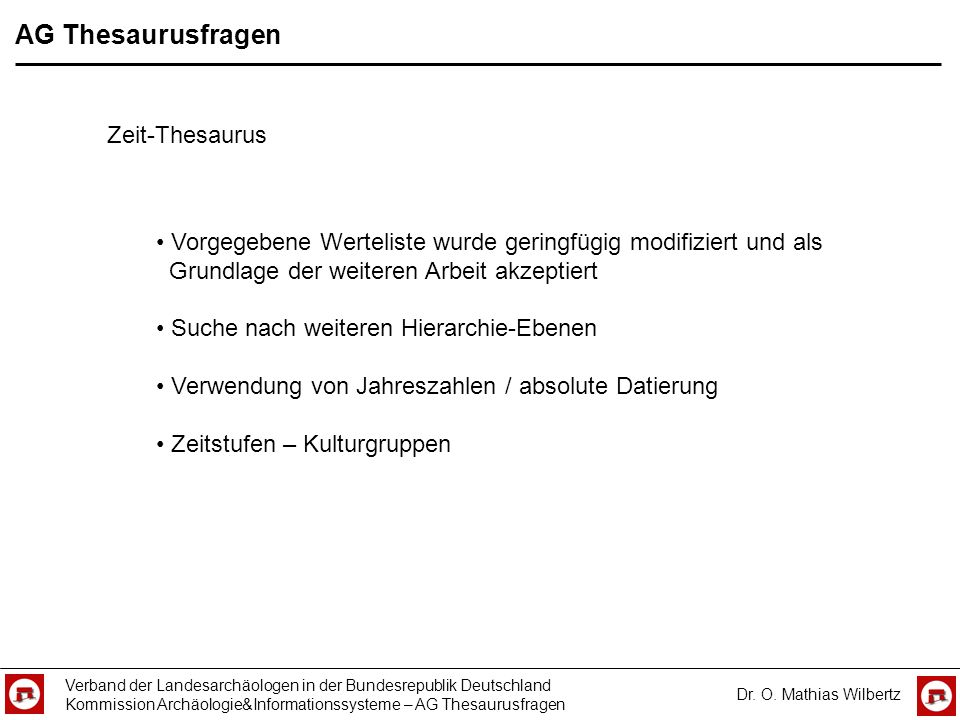 AG Thesaurusfragen Zeit-Thesaurus