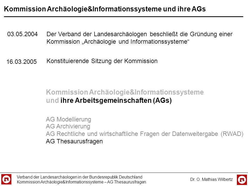 Kommission Archäologie&Informationssysteme und ihre AGs