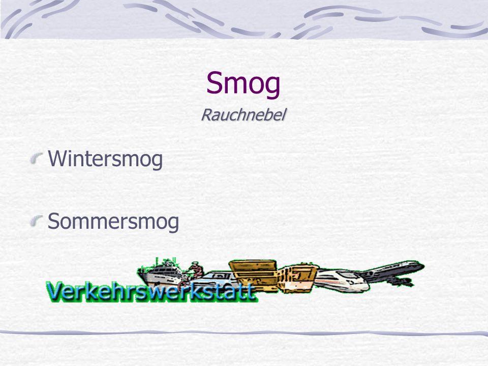 Smog Rauchnebel Wintersmog Sommersmog