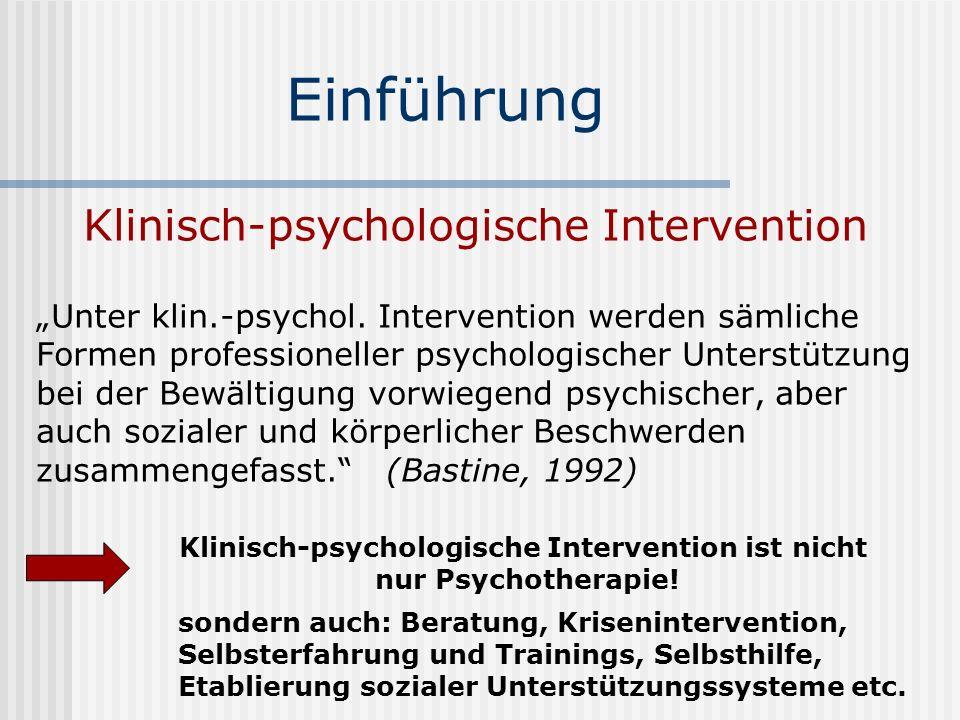 Klinisch-psychologische Intervention ist nicht