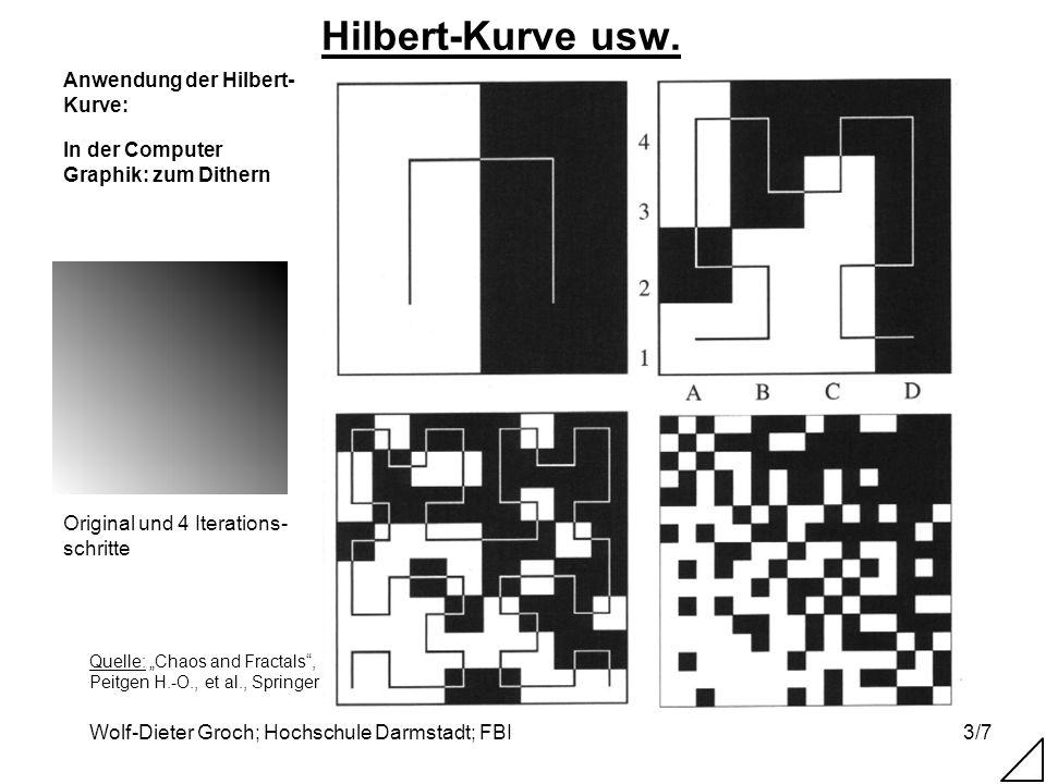 Hilbert-Kurve usw. Anwendung der Hilbert-Kurve: