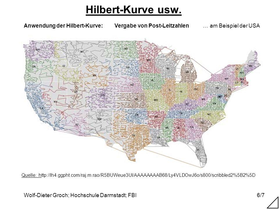 Hilbert-Kurve usw. … am Beispiel der USA Vergabe von Post-Leitzahlen