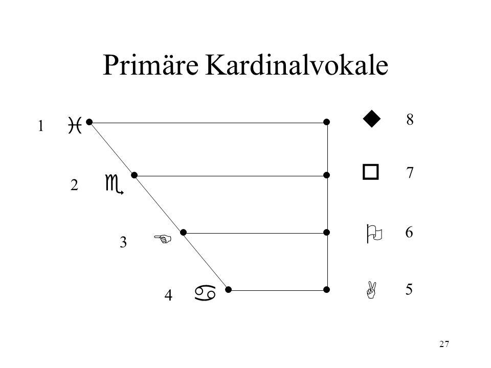 Primäre Kardinalvokale