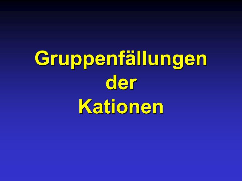 Gruppenfällungen der Kationen