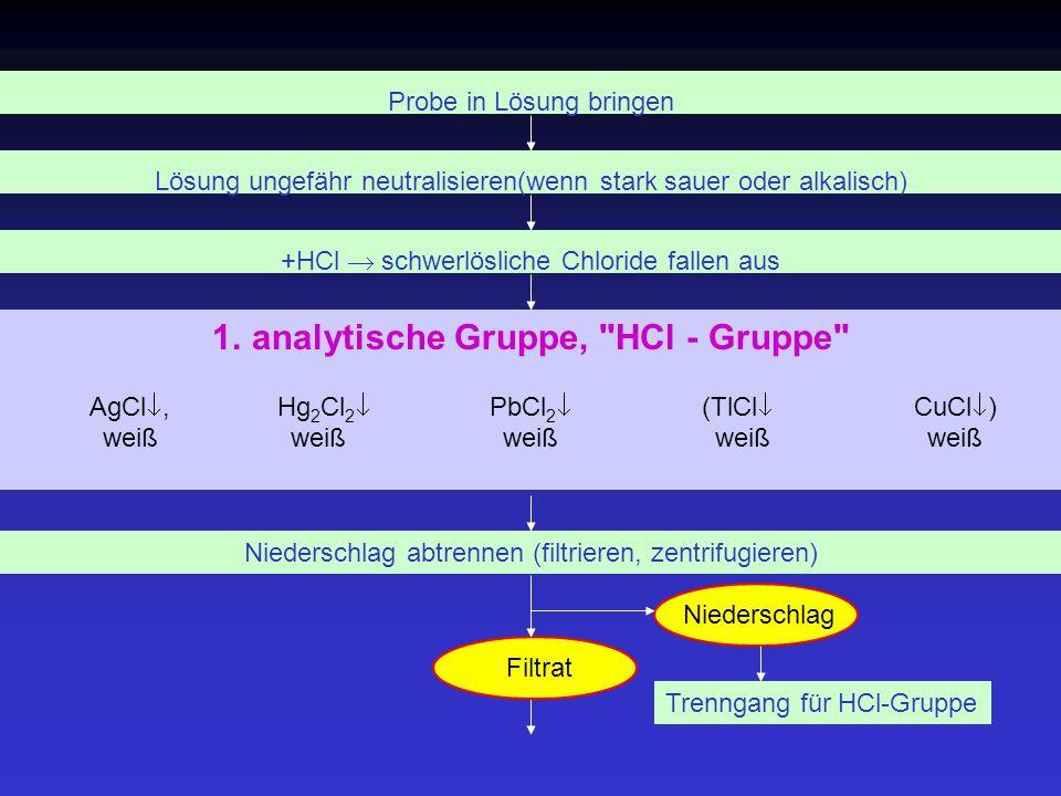 analytische Gruppe, HCl - Gruppe
