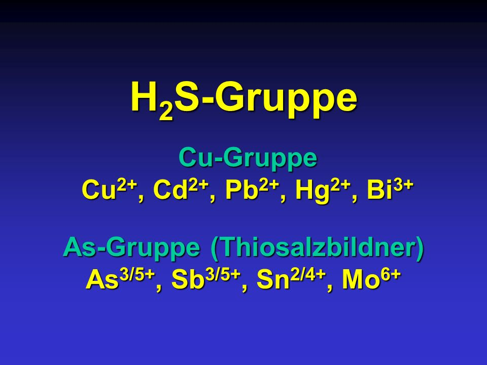 As-Gruppe (Thiosalzbildner)