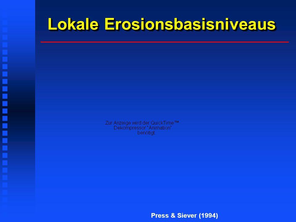 Lokale Erosionsbasisniveaus