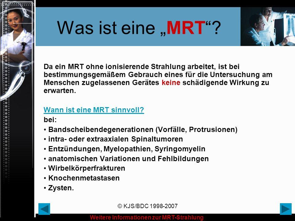 """Was ist eine """"MRT"""